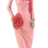 Skeleton Lady in Pink Day of the Dead Statue - T81670