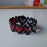 Zelda Heart Container Perler Bead Bracelet by LighterCases on Etsy