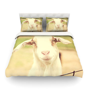 "Angie Turner ""Happy Goat"" Smiling Animal Featherweight Duvet Cover"