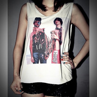 MGMT Shirt Tank Top T-Shirt Crop Top Sexy SideBoob Shirts Women Size S, M, L
