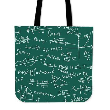 Math Formula Linen Tote Bag