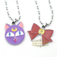 Online Shop Free Shipping 1pcs/lot Sailor Moon Necklace Luna necklace Butterfly Necklace|Aliexpress Mobile