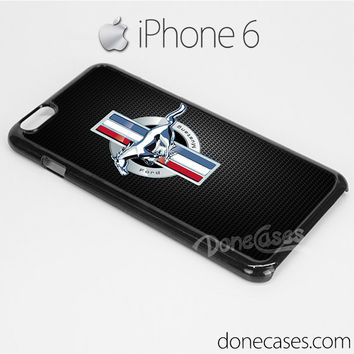 ford mustang logo carbon style iPhone 6 case, iphone 6 plus case