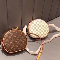 LV Classic Presbyopia Women's Round Pie Bag Shoulder Bag Crossbody Bag