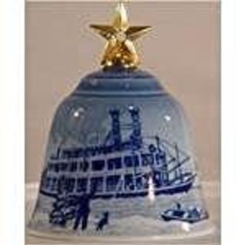 "1995 Bing & Grondahl ""Christmas in America"" Bell -- Christmas Eve at the Mississippi"