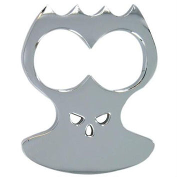 Bone Crusher Silver 2 Hole Self defense Knuckle