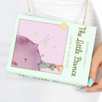 The Little Prince Book Clutch Purse