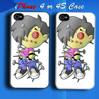Emo Boy Voodoo Dolls Custom iPhone 4 or 4S Case Cover from namina