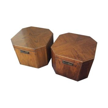 Pre-owned Founders Furniture Oversize Side Tables 60s - Pair