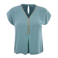 Pearl Adorned Blouse