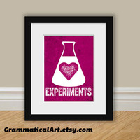 Chemistry Love Experiments Print - Great Science Gift