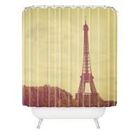 Happee Monkee Eiffel Tower Shower Curtain