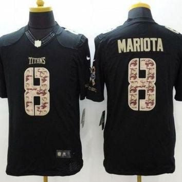 PEAPYD9 Nike Titans #8 Marcus Mariota Black Men's Stitched NFL Limited Salute to Service Jerse