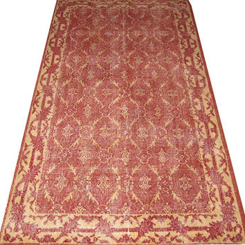Allover Design Turkish Vintage Rug  6'7' x 3'10''  Free Shipping