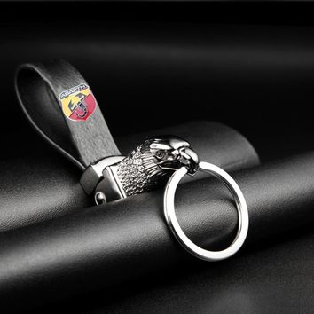 Eagle Head Car Styling Car Key Ring Holder Keychain Man's Strap Car Key Chains For ABARTH Fashion Car Accessories