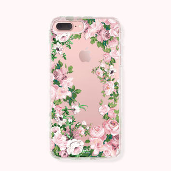 Floral iPhone 7 Case, iPhone 7 Plus Case, iPhone 6/6S Case, iPhone 6/6S Plus Case, iPhone 5/5S/SE Case, SAMSUNG Galaxy Case - Pink Blossom