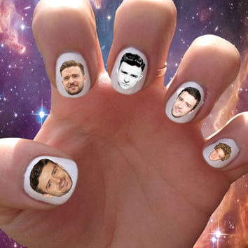 Justin Timberlake // Nsync // JT // Hip Hop // Nail Decals Transfer Nail Stickers // Justified // Britney Spears