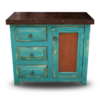 Chico Small Rustic Vanity - Reclaimed Wood Furniture | Texas Rustic Furniture | Mexican Furniture