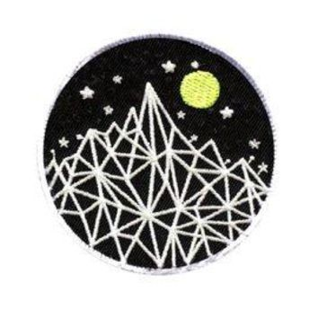 """Geometric Nighttime Mountains"" Patch"