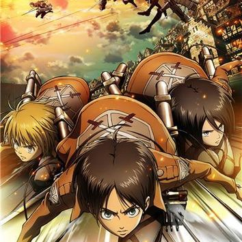 Cool Attack on Titan Custom Canvas Art  Poster  Figure Wallpaper Kid Anime Wall Stickers Mural Bedroom Decoration #108# AT_90_11
