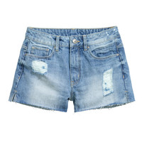 Denim Shorts High Waist - from H&M