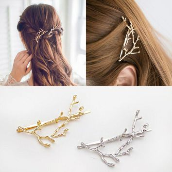 fashion antler metal hair clips pin hairpin accessories for women girls hair clip barrette hairgrip headdress ornaments headwear