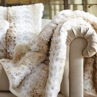 Faux Fur Throw - Light Fox