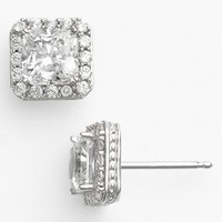 Women's Nordstrom Pave Square Stud Earrings - Princess