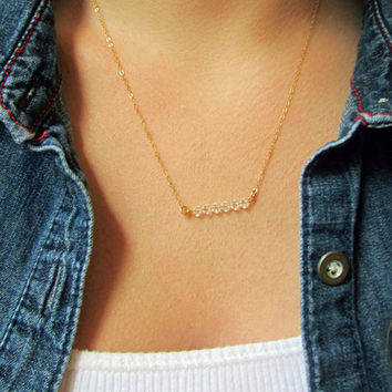 Swarovski Crystal Bar Necklace
