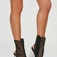 All Clear Mesh Booties