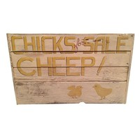Pre-owned Hand Painted Sign - Chicks for Sale Cheep!
