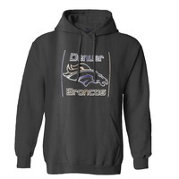 The Denver Broncos Metalic Mens Hoodie and Womens Hoodie