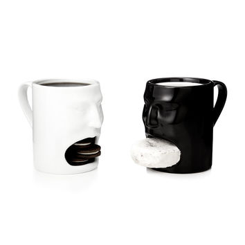 Face Mugs - Black And White