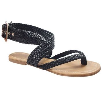ARGO BRAIDED THONG SANDALS