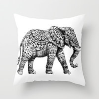 Ornate Elephant 3.0 Throw Pillow by BIOWORKZ