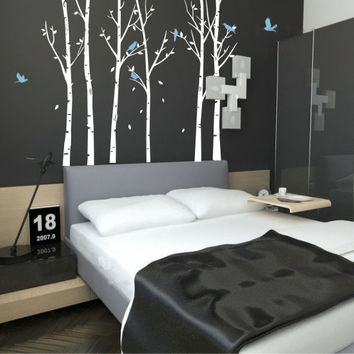 Huge Tree wall decal Wall Mural Stickers Nursery Tree and Birds