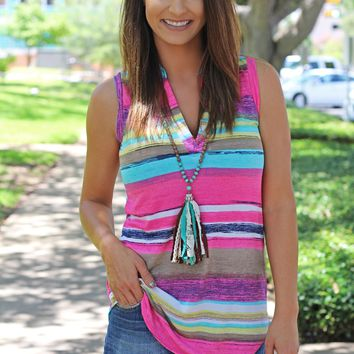 Sharp In Serape Top