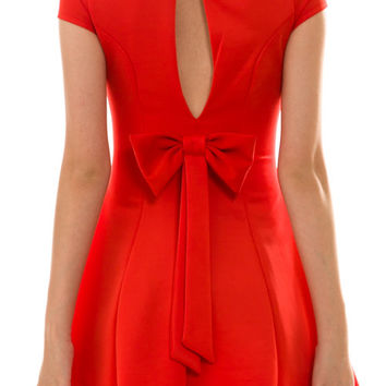 Perfect Red Bow Dress