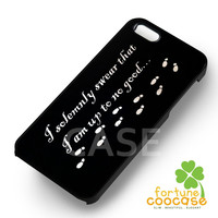 Harry potter case i solemnly swear footsteps with quote -s4rw for iPhone 6S case, iPhone 5s case, iPhone 6 case, iPhone 4S, Samsung S6 Edge