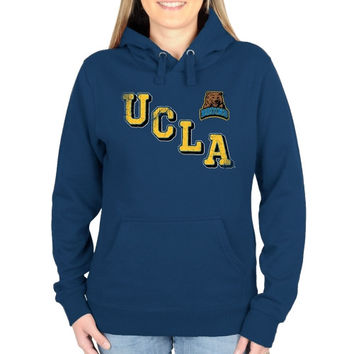UCLA Bruins Ladies Acronym Pullover Hoodie - Light Blue