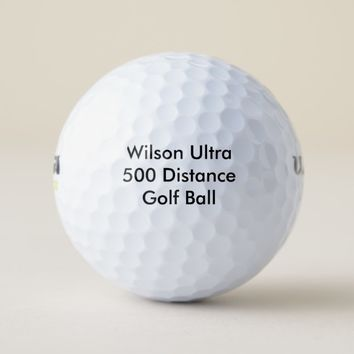 Personalized Wilson Ultra 500 Distance Golf Ball