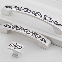 silver --Dresser Pulls Drawer Pull Porcelain / Cabinet Door Pulls konbs / Furniture Hardware Ceramic Dresser handle