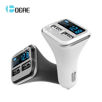 5V 4.8A USB Car-Charger with LCD Screen Auto Car Charger Adapter Charging for iPhone X 8 Samsung Xiaomi Car Mobile Phone charger