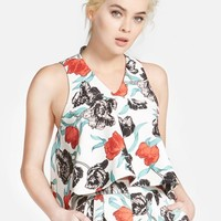 Women's CAMEO 'New Love' Sleeveless Floral Print Top,