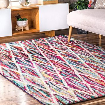 9941 Multi-Color Abstract Contemporary Area Rugs