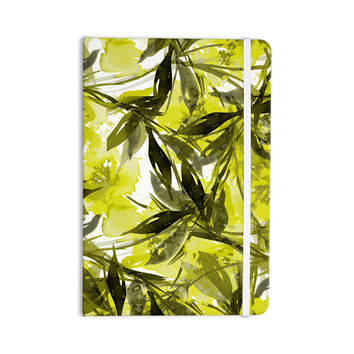 "Ebi Emporium ""Floral Fiesta - Yellow Gray"" Floral Painting Everything Notebook"