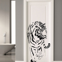 Wall Decal Vinyl Sticker Decals Art Decor Design  Tiger Lion Leopard Panter Animals  Nature Wild Cat Fashion Bedroom Dorm (r811)