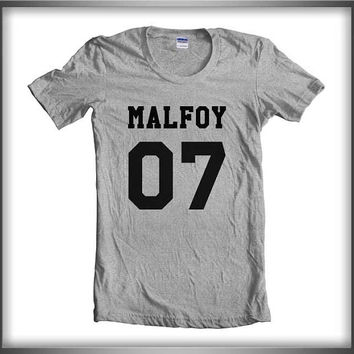 Malfoy 07 Black ink Harry Potter Women Tee Tshirt