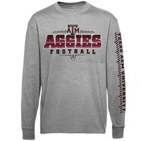 Majestic Texas A&M Aggies Masterwork Long Sleeve T-Shirt - Ash
