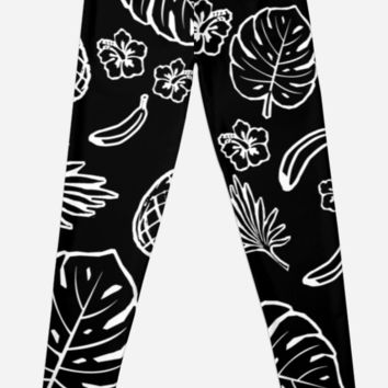 'Tropical pattern' Leggings by ValentinaHramov